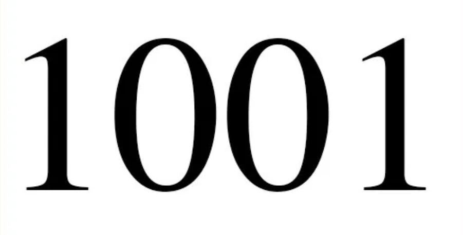 Numerologi 1001