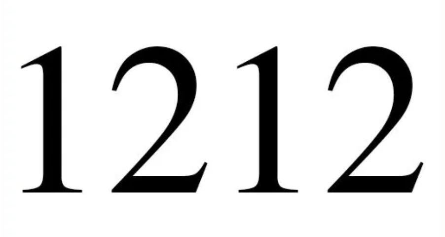 Numerologi 1212