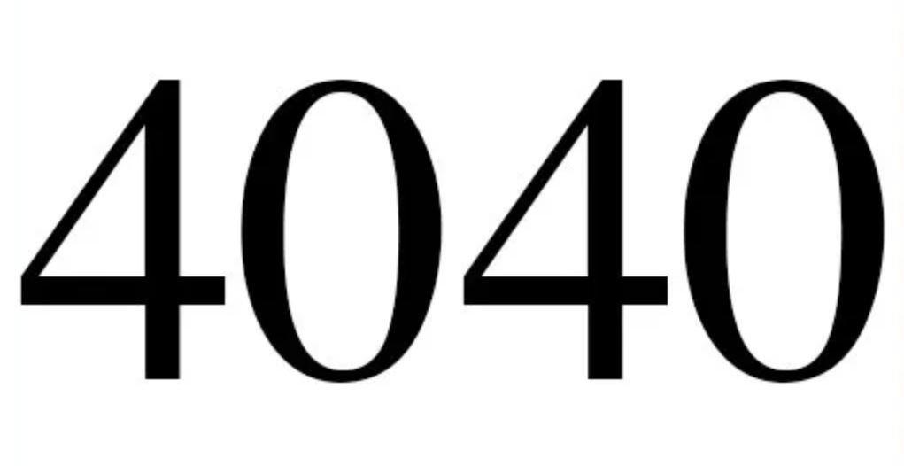 Numerologi 4040