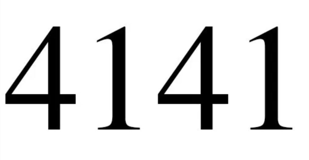 Numerologi 4141