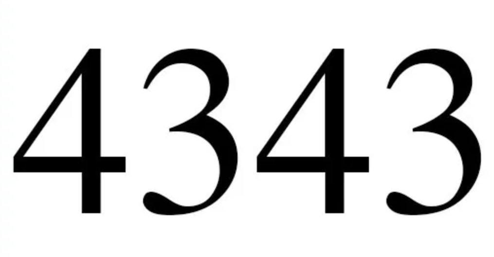 Numerologi 4343