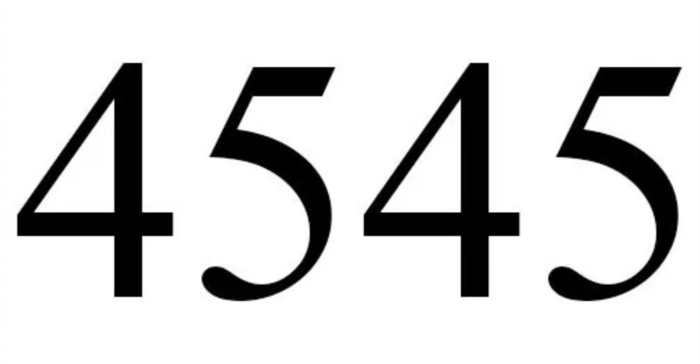 Numerologi 4545