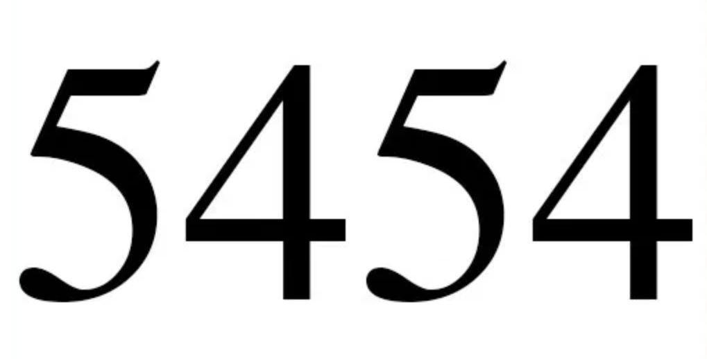 Numerologi 5454
