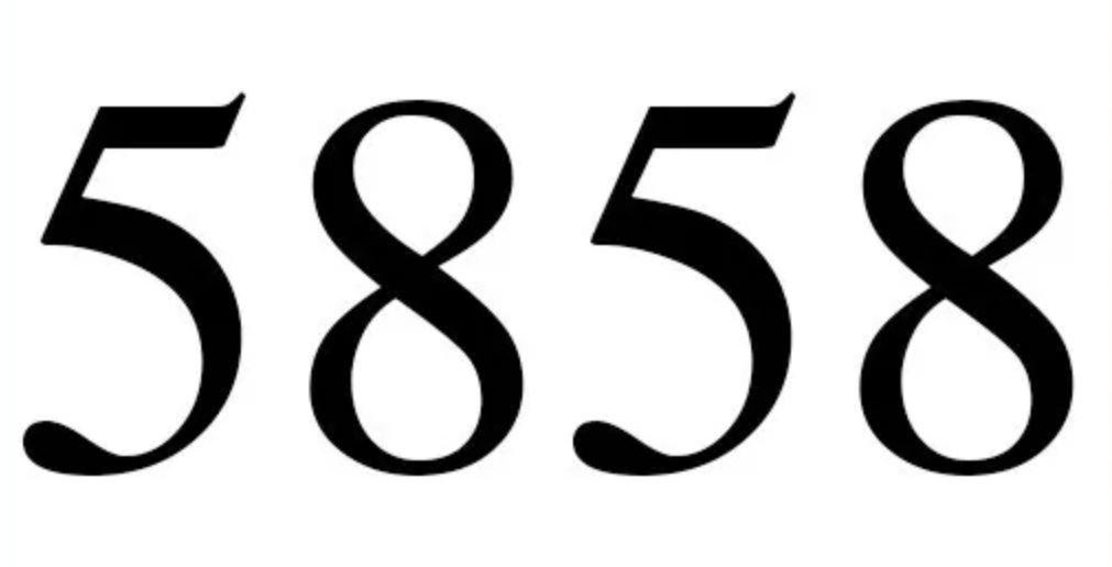 Numerologi 5858