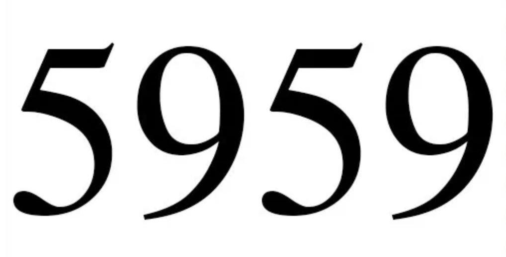 Numerologi 5959