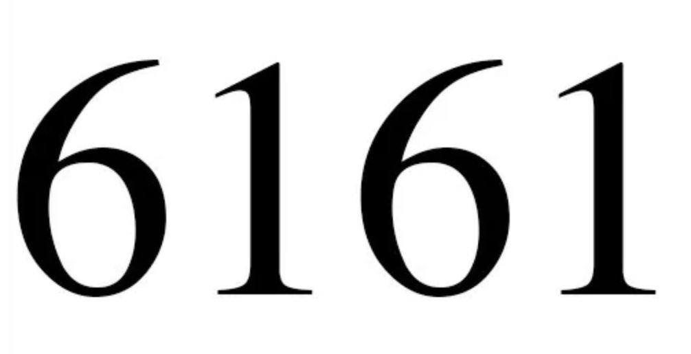 Numerologi 6161
