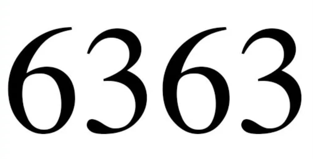 Numerologi 6363