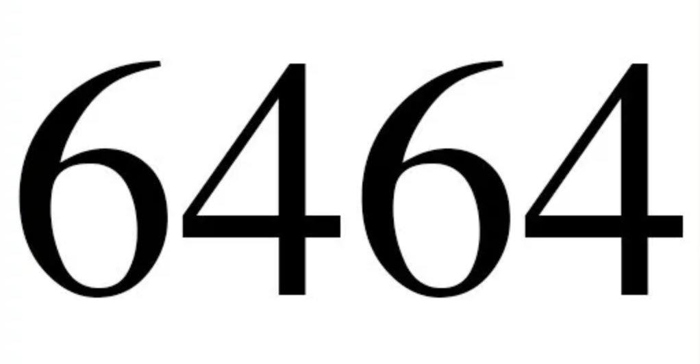 Numerologi 6464