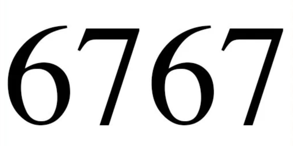 Numerologi 6767