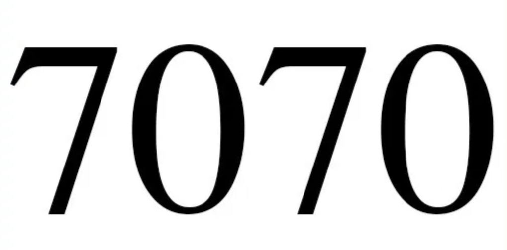Numerologi 7070
