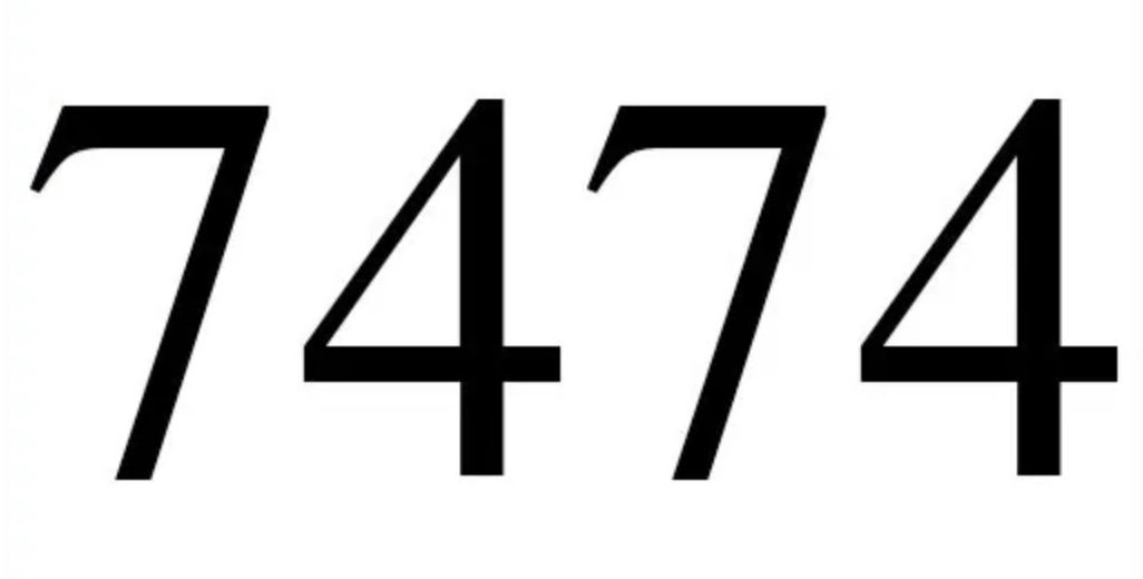 Numerologi 7474
