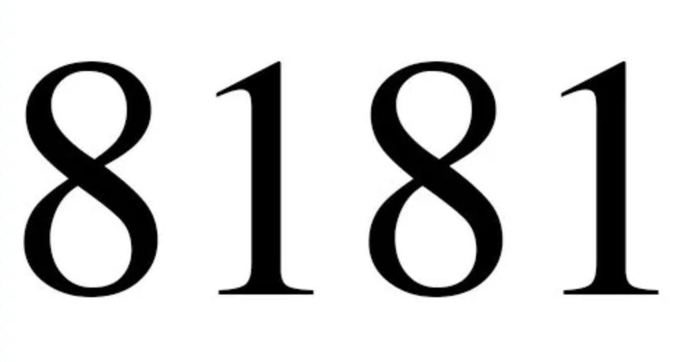 Numerologi 8181