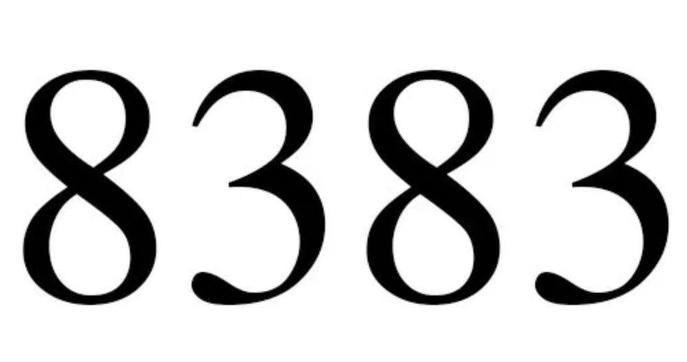 Numerologi 8383