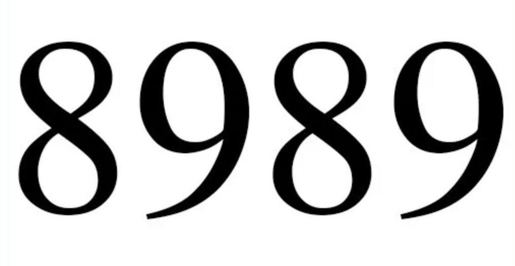 Numerologi 8989