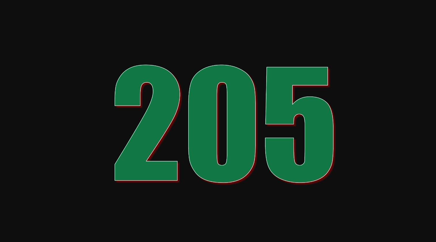 Numerologi 205