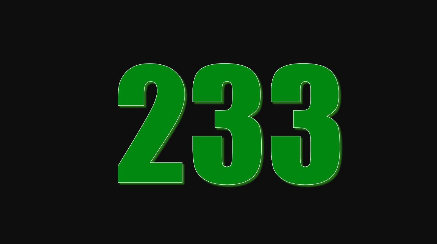 Numerologi 233