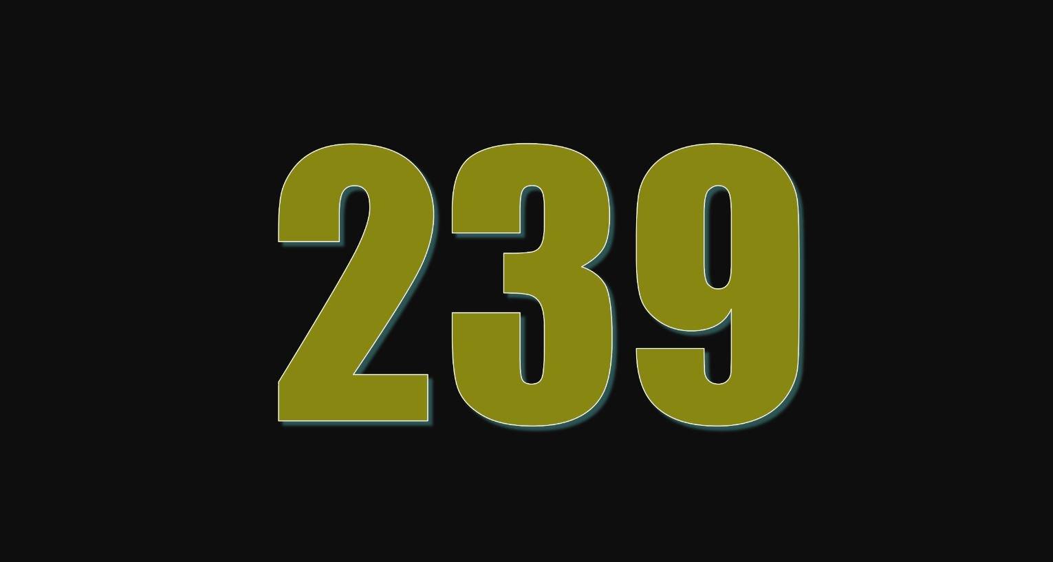 Numerologi 239