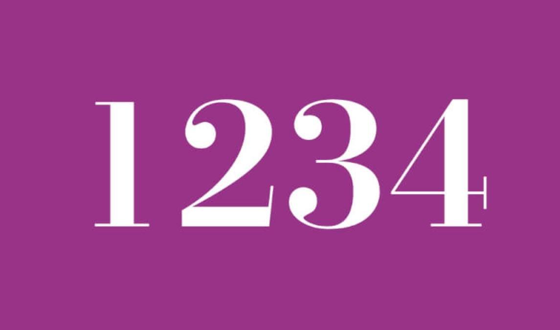 Numerologi 1234