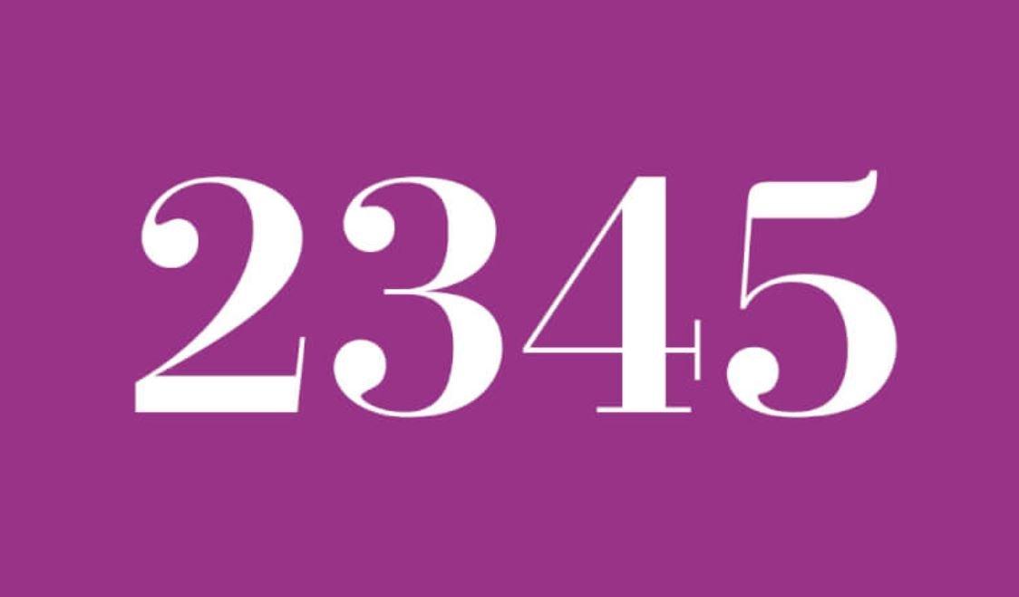 Numerologi 2345