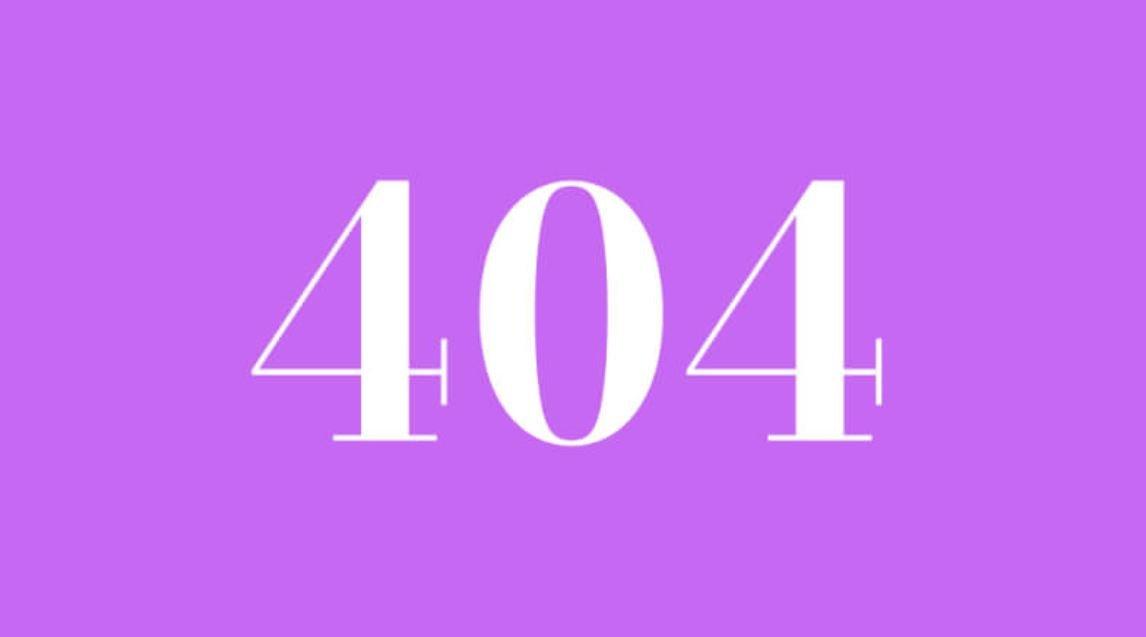 Numerologi 404