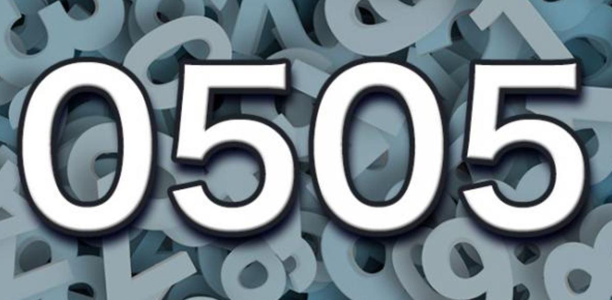 Numerologi 0505