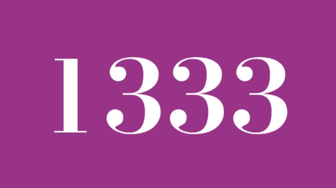 Numerologi 1333