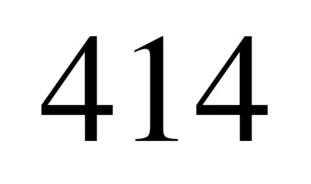 Änglanummer 414