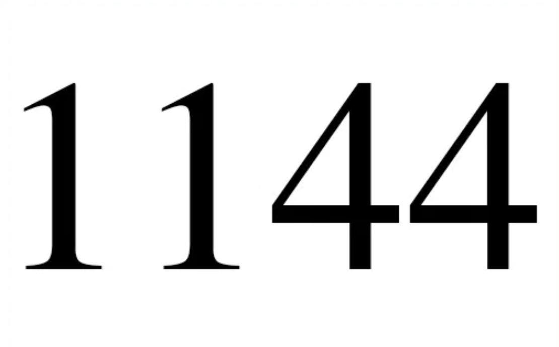 Änglanummer 1144