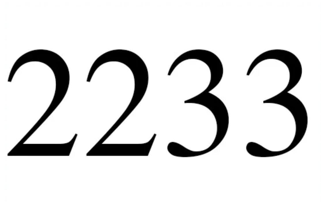 Änglanummer 2233