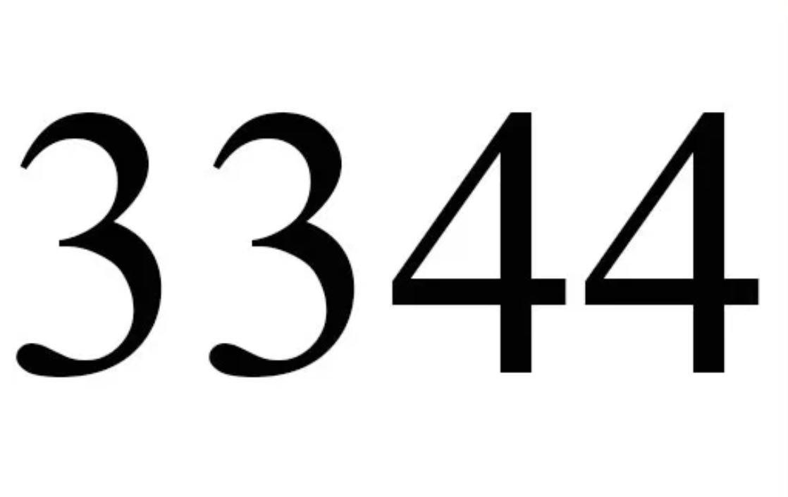Änglanummer 3344