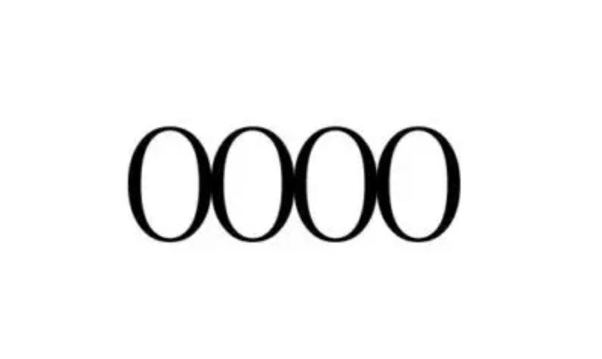 Numerologi 0000